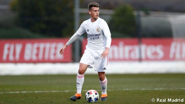 Blanco, en un partido con el Castilla. Fuente: Real Madrid