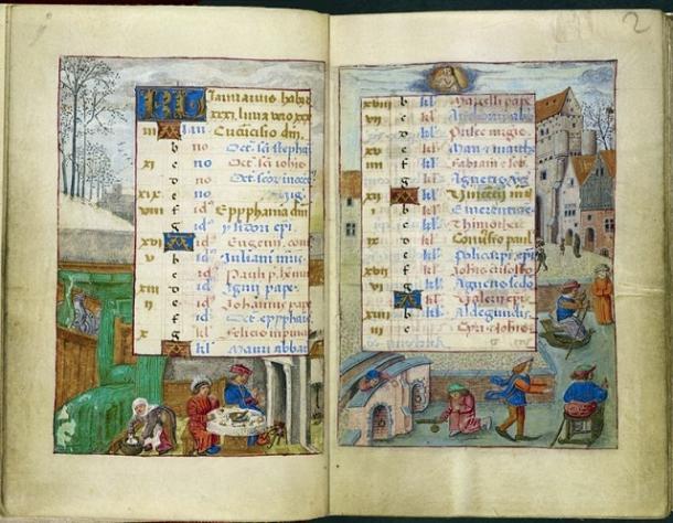 Calendario de Horas de Juana de Castilla (Bruges) 1496-1506. Biblioteca Británica. PD.