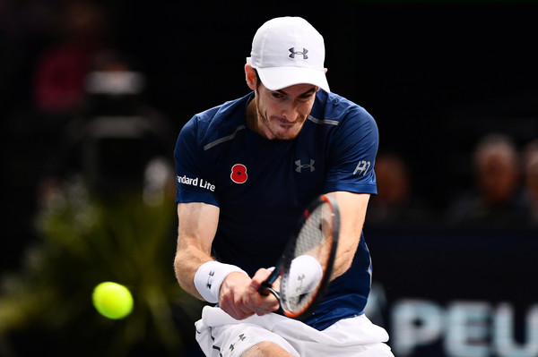 Murray in action during the match (Photo by Dan Mullan/Getty Images)