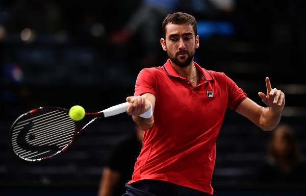 Cilic strikes a forehand (Photo by Dan Mullan/Getty Images)