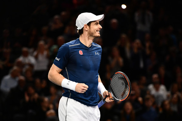 Murray celebrates victory (Photo by Dan Mullan/Getty Images)