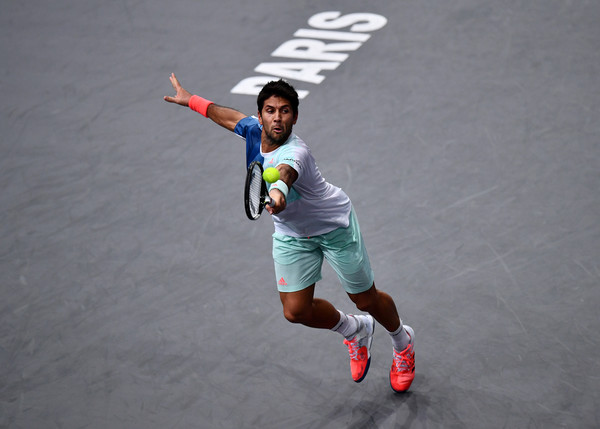 Verdasco in action during the match (Photo by Dan Mullan/Getty Images)