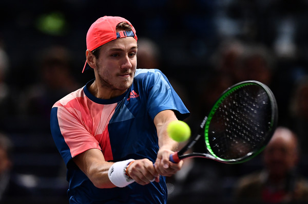 Pouille in action during the match (Photo by Dan Mullan/Getty Images)