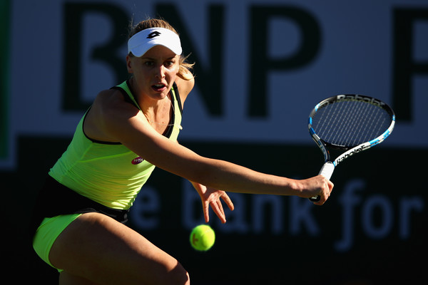 Naomi Broady in action during her qualifying match today | Photo: Clive Brunskill/Getty Images North America