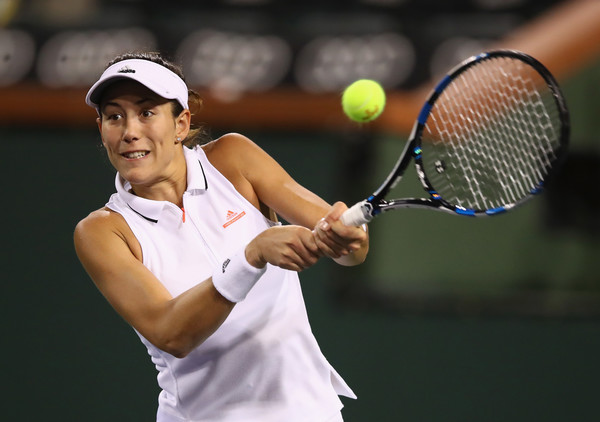 Garbine Muguruza would be encouraged by her performance today   Photo: Clive Brunskill/Getty Images North America