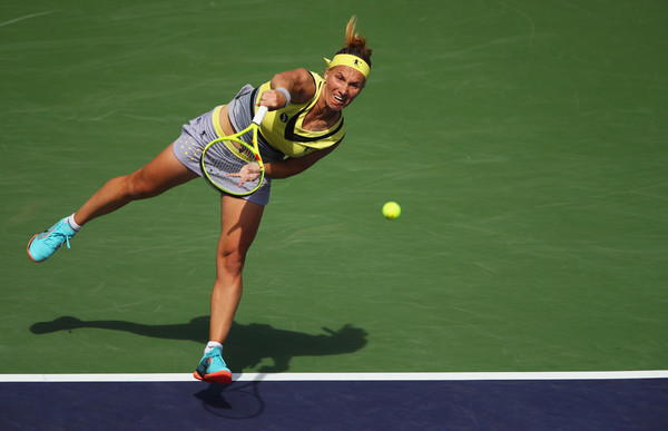 Svetlana Kuznetsova's serve was working really well today | Photo: Clive Brunskill/Getty Images North America