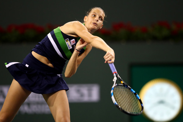Karolina Pliskova's serve let her down at some moments today   Photo: Clive Brunskill/Getty Images North America