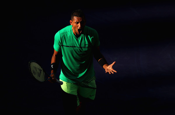 Nick Kyrgios celebrates the victory | Photo: Clive Brunskill/Getty Images North America