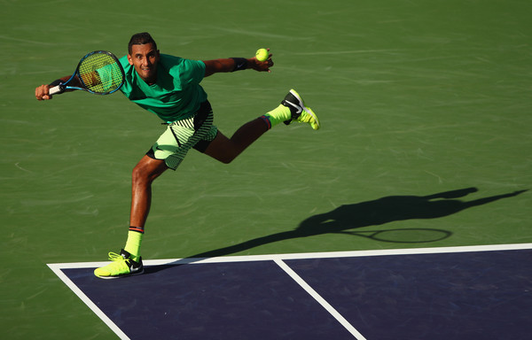 Nick Kyrgios' forehand showed its impact today | Photo: Clive Brunskill/Getty Images North America