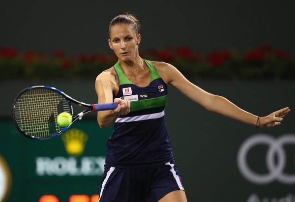 Karolina Pliskova's forehands did not manage to help her much | Photo: Clive Brunskill/Getty Images North America