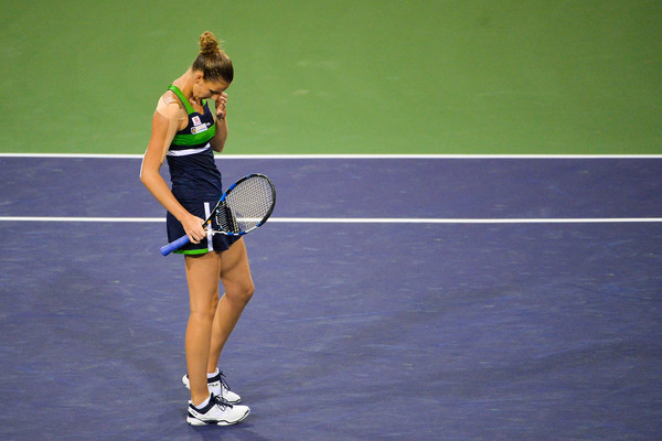 Karolina Pliskova failed to step up her game at the crucial moments today | Photo: Alex Goodlett/Getty Images North America