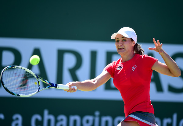 Monica Niculescu in action | Photo: Harry How/Getty Images North America