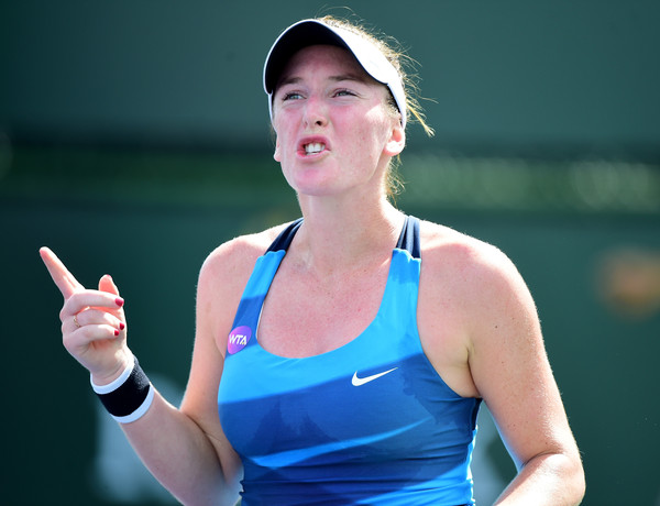 Madison Brengle would rue her missed opportunity in the first set | Photo: Harry How/Getty Images North America