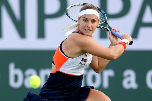 Dominika Cibulkova narrowly escaped from a defeat today | Photo: Matthew Stockman/Getty Images North America