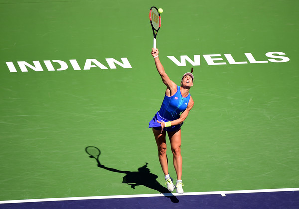 Andrea Petkovic had a poor serving display today | Photo: Harry How/Getty Images North America