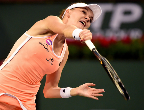 Agnieszka Radwanska had troubles with her service games today | Photo: Harry How/Getty Images North America