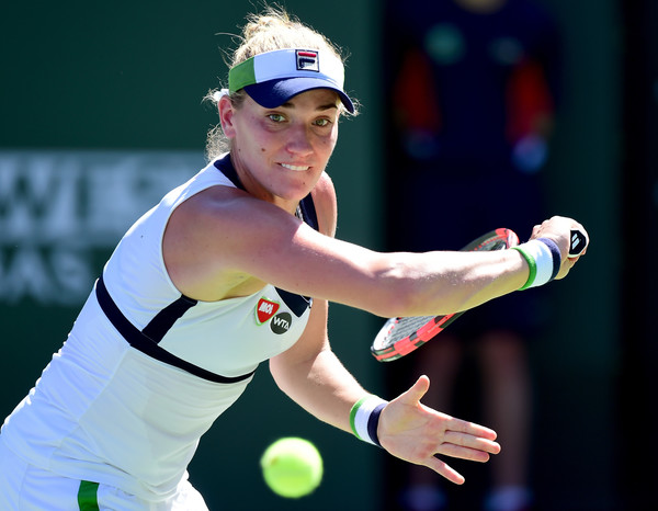Timea Babos faltered at the most crucial moments today | Photo: Harry How/Getty Images North America