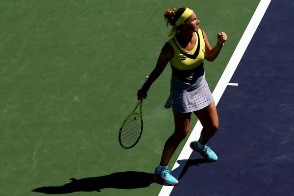 Svetlana Kuznetsova moves on to the quarterfinals   Photo: Matthew Stockman/Getty Images North America