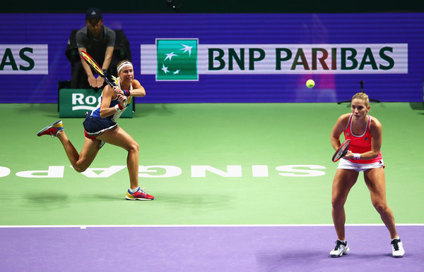Babos and Hlavackova in action | Photo: Clive Brunskill/Getty Images AsiaPac