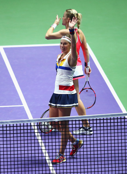 Babos and Hlavackova celebrates the win | Photo: Clive Brunskill/Getty Images AsiaPac