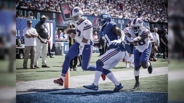 Josh Allen logrado un touchdown (Fuente :Jeffrey T. Barnes)