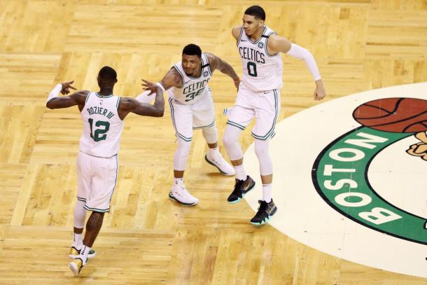 The Celtics' young stars got them to the Eastern Conference Finals and were one game away from the NBA Finals. Photo: Maddie Meyer/Getty Images