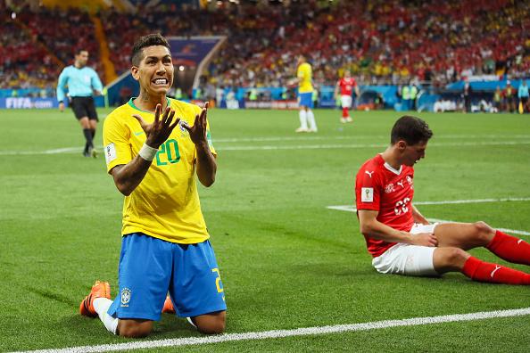 Foi uma noite frustrante para o Brasil em Rostov-on-Don (Foto: Matthew Ashton - AMA/Getty Images)
