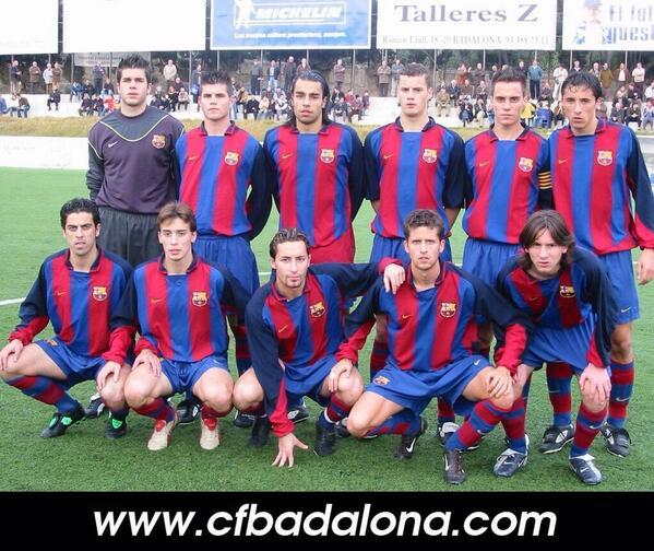 Fede compartió vestuario con Leo Messi en el Barça C. Foto: cfbadalona.com