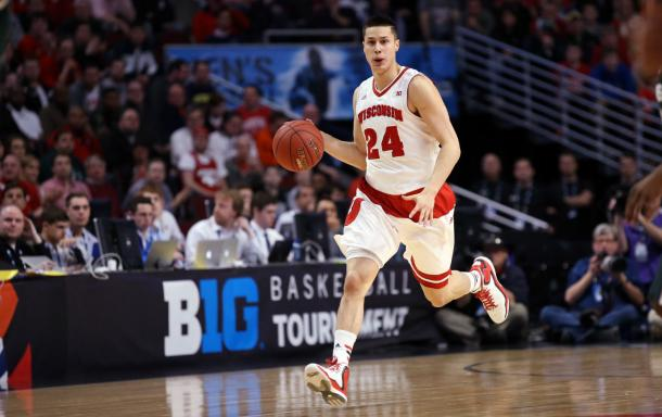 Wisconsin point guard Bronson Koenig will be essential to any run the Badgers go on this March. (Photo credit: AP)