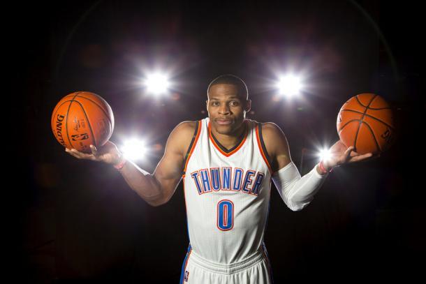 Westbrook quiere forjar su legado en OKC.   Fotografía: Bryan Terry / The Oklahoman