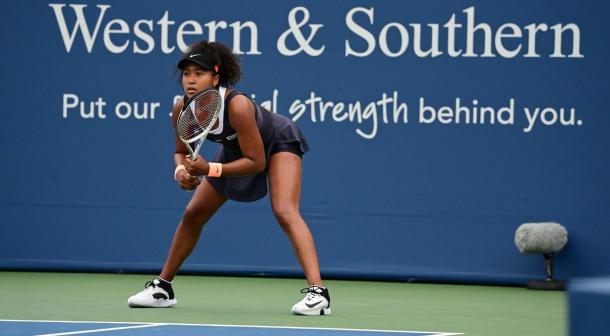 Osaka in action at the Western and Southern Open/Photo: Ben Solomon