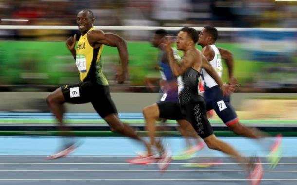 It's not the first time Bolt has cruised home.. | Image source: The Telegraph