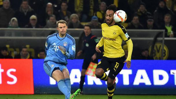 Aubameyang fue lo más peligroso del Dortmund. // (Foto de fcbayern.de)