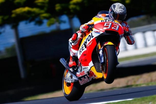 Marc Marquez nel corso dei test | Photo: motociclismo.it