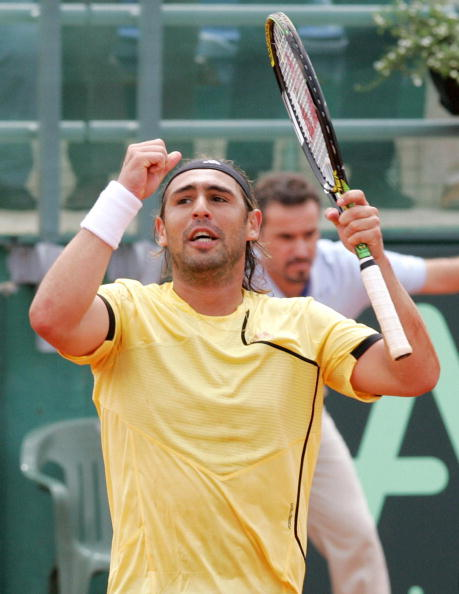 Baghdatis celebrates one of his thirty-four consecutive wins (Photo: Getty Images/Sakis Savides)