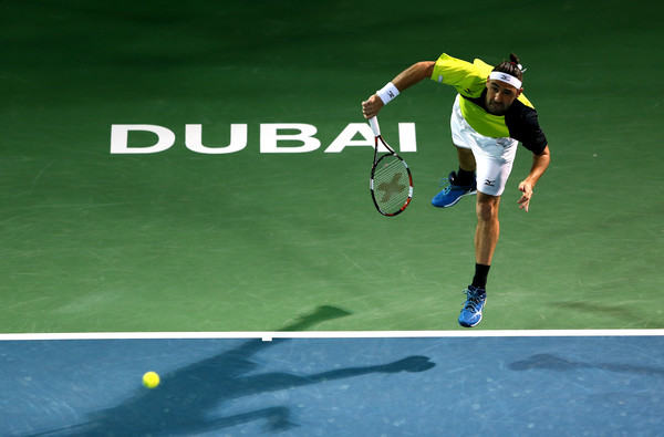 Marcos Baghdatis serves during his semifinal win on Friday. Photo: Warren Little/Getty Images