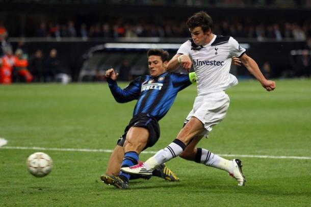 Gareth Bale frente al Inter de Milán / Fuente: Inter de Milán C.F.