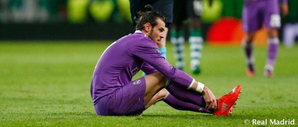 Bale esperando la llegada de las asistencias en Lisboa | Foto: Real Madrid