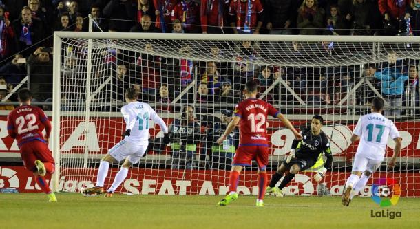 Bale antes de transformar el penalti | Foto: LaLiga.es