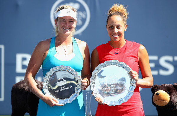 Keys and Vandeweghe after last year's final in Stanford | Photo: Ezra Shaw/Getty Images North America