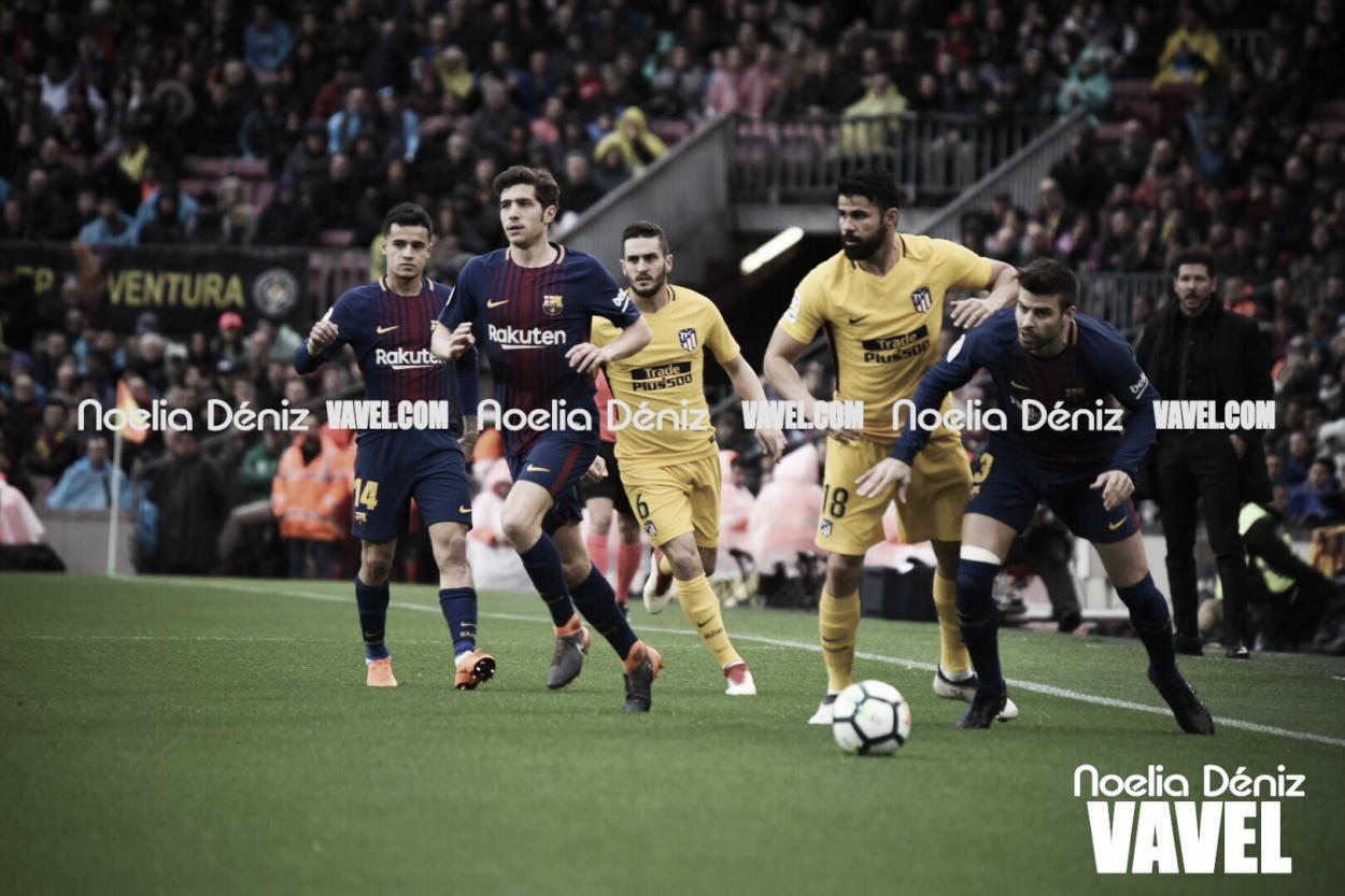 Encuentro entre Barcelona y Atlético de Madrid, temporada 2017/18 | Foto: Noelai Déniz - VAVEL