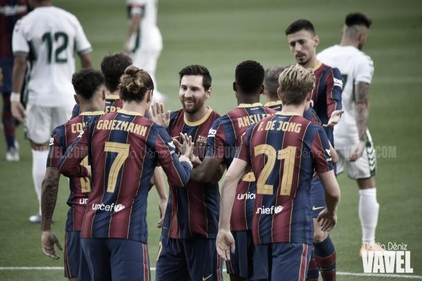 Victoria del Barcelona en Liga Santander | Foto: Noelia Déniz - VAVEL