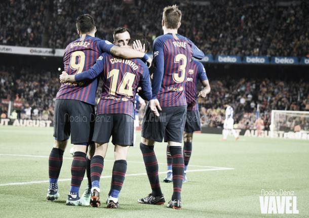 Partido en el Camp Nou duante la temporada 2018/19 | Foto: Noelia Déniz - VAVEL