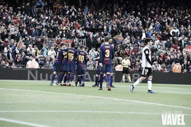 Barcelona y Valencia se jugaron las semifinales en 2018 | Foto: Noelia Déniz - VAVEL