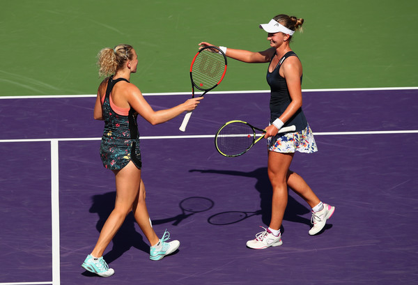 The Czech pairing also reached the final in Miami | Photo: Clive Brunskill/Getty Images North America