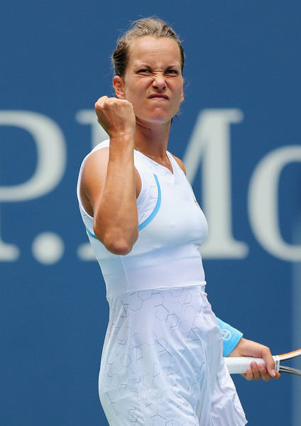 Barbora Strycova put up an extremely tough fight today | Photo: Elsa/Getty Images North America