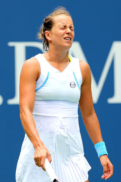 It was all about frustration for Strycova towards the closing stages after failing to convert three break points | Photo: Elsa/Getty Images North America