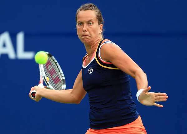 Barbora Strycova hits a forehand at the Rogers Cup | Photo: Vaughn Ridley/Getty Images North America
