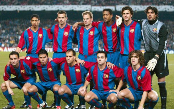 Plantilla del Barcelona temporada 2002/03 | Foto: fcbarcelona.com