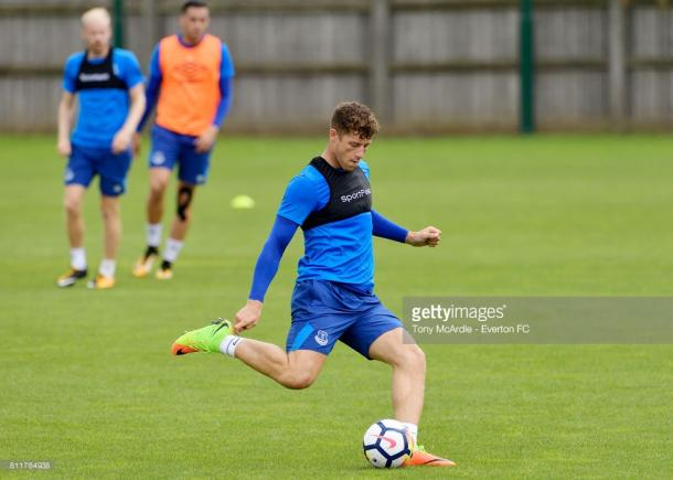 Ross Barkley in training for Everton. Source | Getty Images.